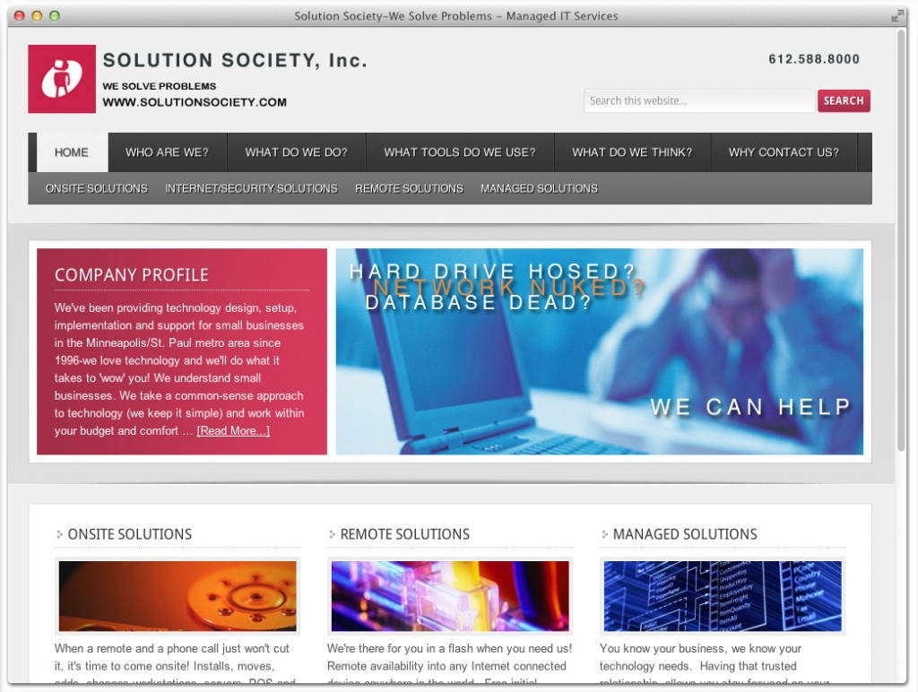 Solution Society Computer Support
