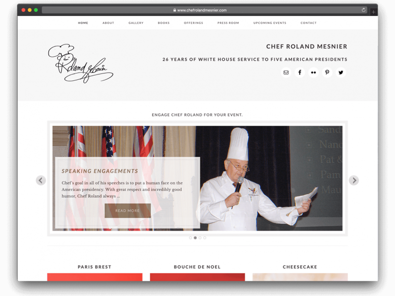 ChefRolandMesnier.com Website Design